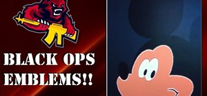 Create a Mickey Mouse playercard emblem in Call of Duty: Black Ops