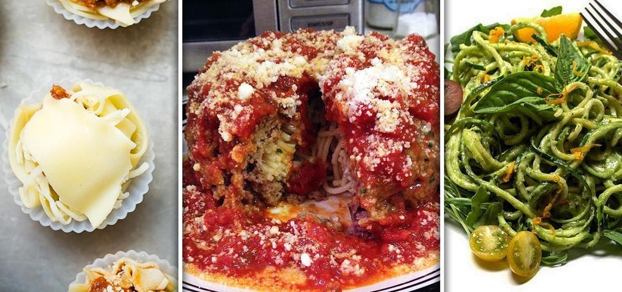 Spaghetti-Stuffed Meatballs, Lasagna Cupcakes, & More