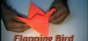 Make an origami bird with flappable wings