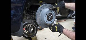 Change the rear brakes on a Porsche 996