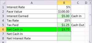 Calculate interest revenue and interest expense in Microsoft Excel