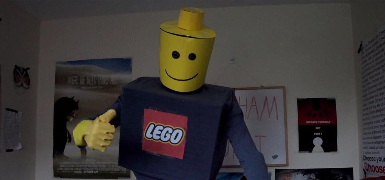 Make a Lego Man Halloween Costume Based on Any Lego Movie Character