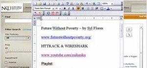 Grab Syl Flores's Site using HTTRACK & Wireshark