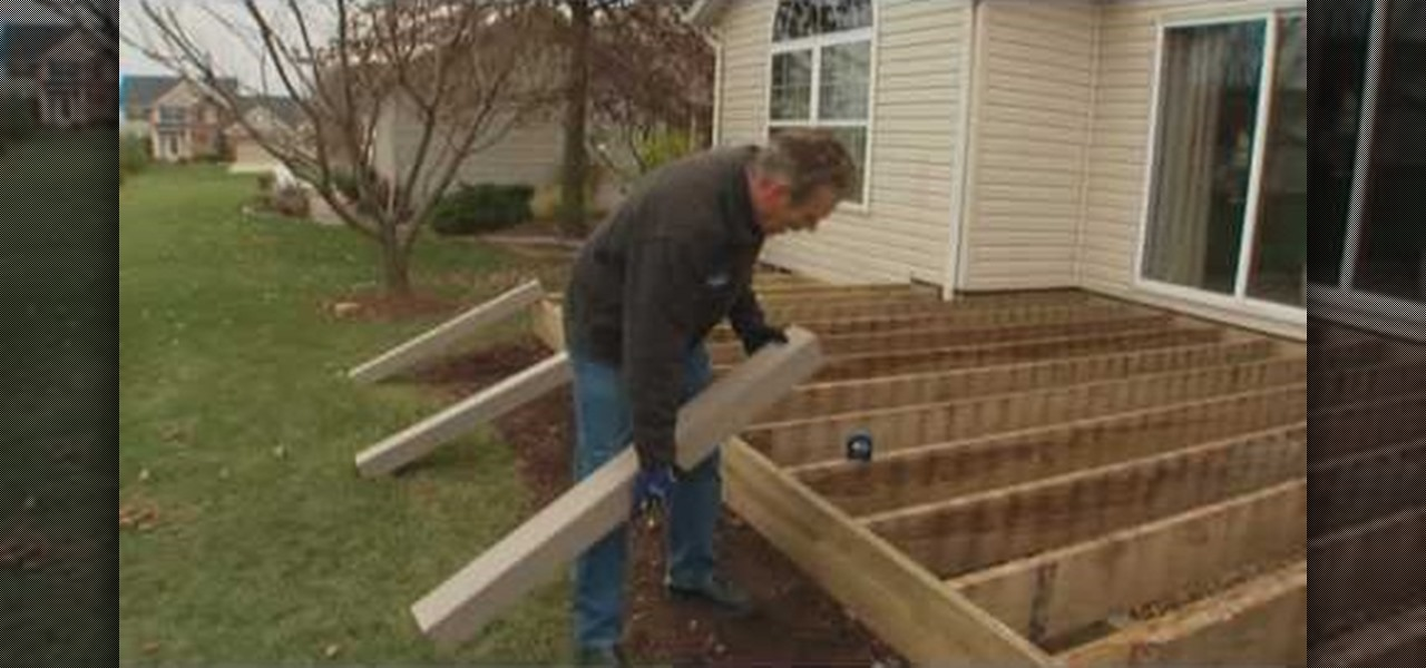 How to Install deck railing Construction Repair WonderHowTo