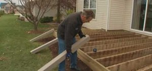 Renew your deck with composite materials with Lowe's