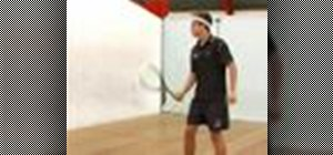 Do a squash forehand recovery deep in back corner