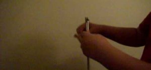 Do a latch drop trick with butterfly knife or balisong