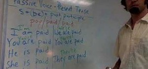 Use the passive voice in the present tense in English