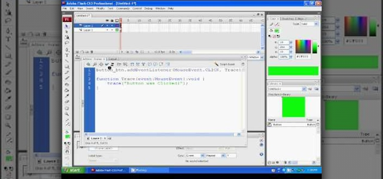 how to write actionscript in flash cs4