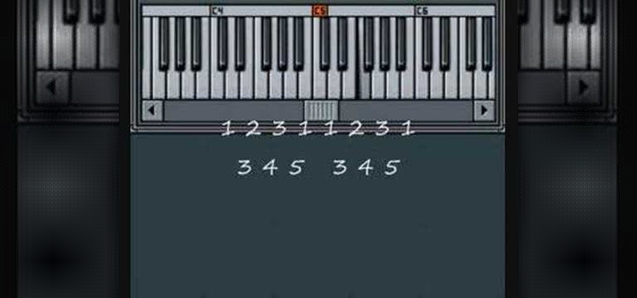 How To Play Frere Jacques On The Piano Piano Keyboard
