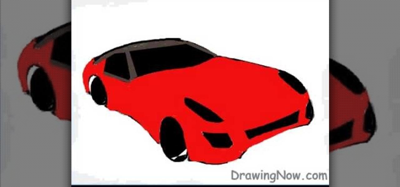 how to draw a sports car ferrari