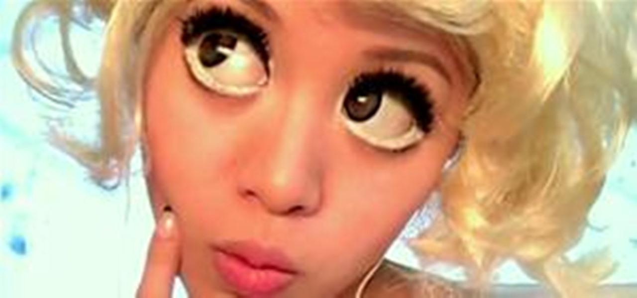 HowTo Get Lady Gagas Anime Eyes Makeup WonderHowTo