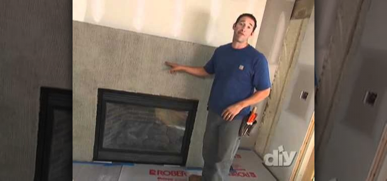 How to use stacked stones to reface an old fireplace - How to reface a brick fireplace ...