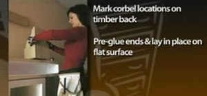 Make a mantel shelf