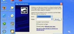 Map a network drive in Microsoft Windows XP