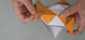 Origami a cube with twelve pieces of paper