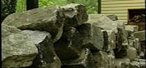 Use cobblestone for edging around your yard