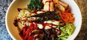 Make Korean rice and vegetables, aka Bibimbap