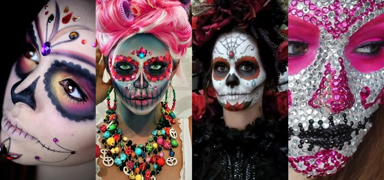 The 15 Best Sugar Skull Makeup Looks For Halloween Halloween Ideas - Day-of-the-dead-makeup-tutorial-video