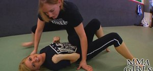 Knee trap an opponent if your mount is countered by a hip escape in MMA