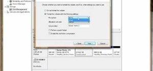 Partition an external hard drive on Windows Vista