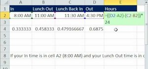 Calculate hours worked in days in Microsoft Excel