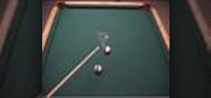 Use the 30 degree rule to determine cue ball direction