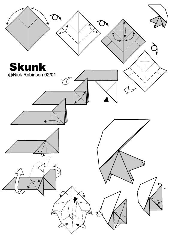 How to Fold an Origami Skunk
