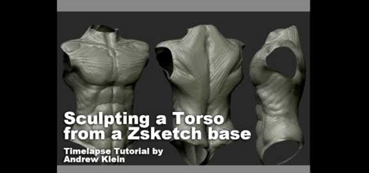 How to Sculpt a torso in Zbrush from a Zsketch base