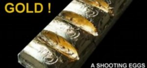 Make an edible 24 carat gold bar with gold leaf