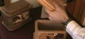 Open a wooden urn