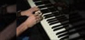 Playa 12-bar blues song on the piano