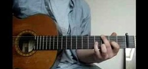 "Play ""Viva la Vida"" on the acoustic guitar"