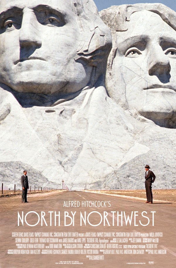 North By Northwest Tribute Poster