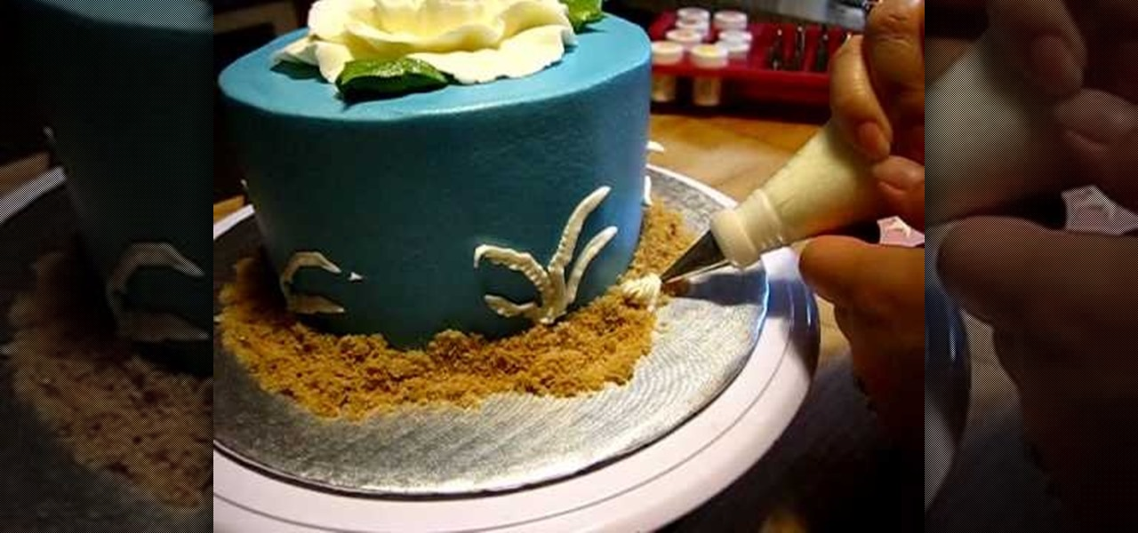 How To Decorate A Summer Flower Seashell Buttercream Cake Cake