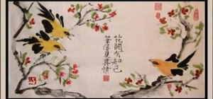 Draw a raggedy bird - Chinese brush painting