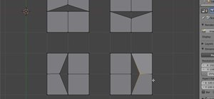Use the rip tool when modeling in Blender 2.5