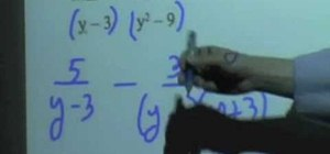 Add & subtract rational expressions
