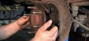 Replace the one-piece parking brake shoe on a Chevy Tahoe or Silverado