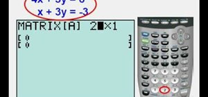 Use matrices to solve systems of equations on a TI83