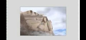 Draw and paint rock cliff mountain cliff environment