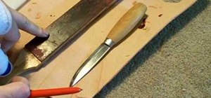 Make a leather sheath for a Scandinavian knife