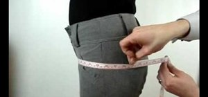 Measure a female's hips for trousers