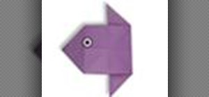 Origami a fish head Japanese style