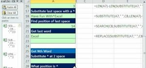 Extract the nth word from a text string in Excel