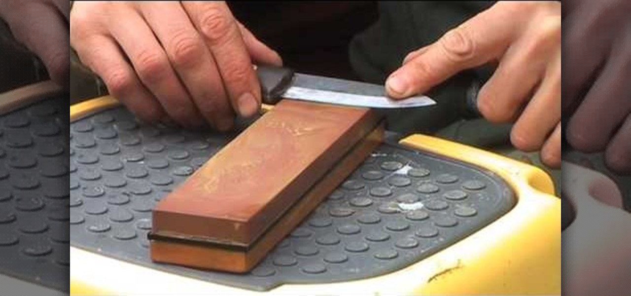 Water Sharpening Stones : How to sharpen a knife with japanese water stone