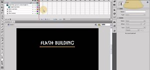 Structure a Flash website using an intro and content loading bar