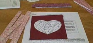 Create a Valentine's Day heart card with iris folding