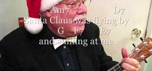 "Play ""(It Must Have Been Ol') Santa Claus"" on the ukulele"