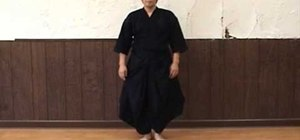 Practice your footwork in Kendo